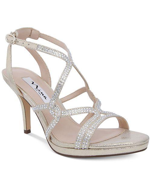 ab4ee0f8678b86 Nina Varsha Strappy Evening Sandals   Reviews - Sandals   Flip ...