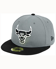 New Era Chicago Bulls 2-Tone Gray Black 59FIFTY Cap
