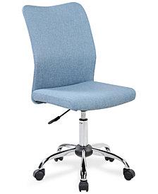 Hastin Modern Armless Task Chair, Quick Ship