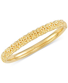 Signature Gold™ Byzantine Bangle Bracelet in 14k Gold over Resin