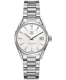 Women's Swiss Lady Carrera Stainless Steel Bracelet Watch 32mm