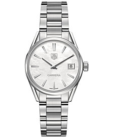 TAG Heuer Women's Swiss Lady Carrera Stainless Steel Bracelet Watch 32mm
