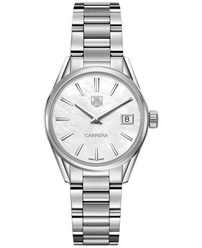 f317f25c528 TAG Heuer Women s Swiss Lady Carrera Stainless Steel Bracelet Watch 32mm