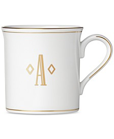 Federal Gold Monogram Mug, Block Letters