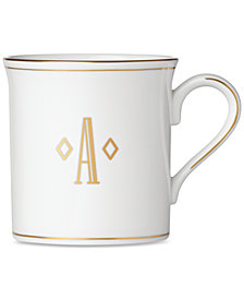 Lenox Federal Gold Monogram Mug, Block Letters