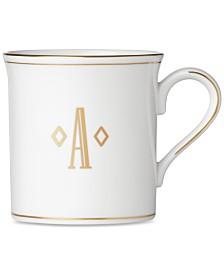 Lenox Federal Gold Monogram Mug, Block Letters