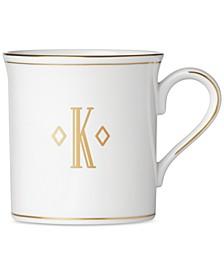 Federal Gold Monogram Mug, Block Letters