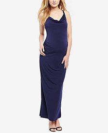 Motherhood Maternity Cowl-Neck Gown