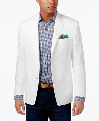 Lauren Ralph Lauren Men's Classic-Fit Solid Linen Sport Coat ...