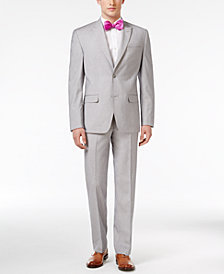 Sean John Classic-Fit Silver and Gray Sharkskin Suit Separates