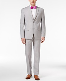 sean john classic fit silver and gray sharkskin suit separates