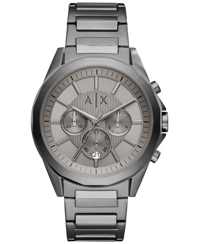 A|X Armani Exchange Men's Chronograph Stainless Steel Bracelet Watch 44mm AX2603