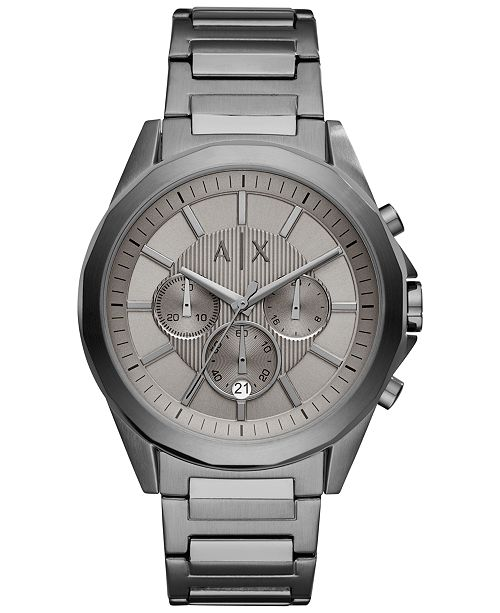 Armani Exchange A|X Men's Chronograph Stainless Steel Bracelet Watch 44mm AX2603
