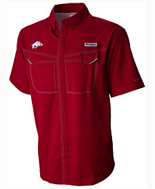 Columbia Men's Arkansas Razorbacks Low Drag Off Shore Button Up Shirt