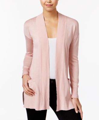 Image of Hippie Rose Juniors' Open-Front Side-Slit Cardigan