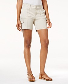 Petite Zig-Zag Cargo Shorts, Created for Macy's