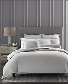 CLOSEOUT! Hotel Collection Ladder Stitch Pique Grey Duvet Covers, Created for Macy's