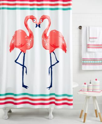 Iconic Birds And Bright Stripes Color The Whim By Martha Stewart Collection  Flamingo Kiss Bath Collection With Whimsical Flair.
