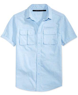 Sean John Men's Multi-Pocket Cotton Shirt, Created for Macy's ...