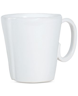 VIETRI Lastra White Collection Mug