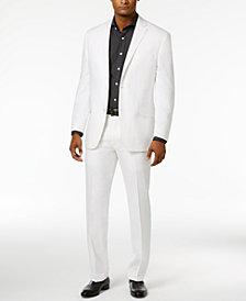 Sean John Men's Classic-Fit White Linen Suit Separates