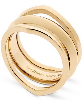Michael Kors Gold-Tone Triple Band Ring