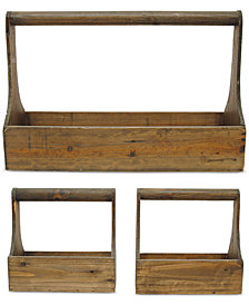 3-Pc. Wood Planter Basket Set