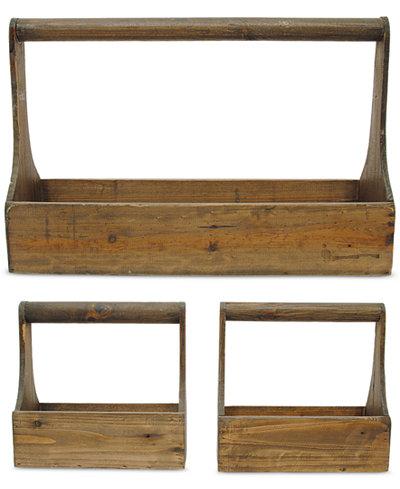 3-Pc. Wood Planter Basket Set