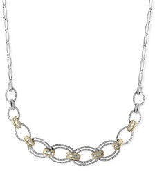 Duo by EFFY® Diamond Necklace (2-1/10 ct. t.w.) in 14k Gold and White Gold