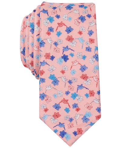 Bar III Men's Tearose Floral Skinny Tie, Created for Macy's