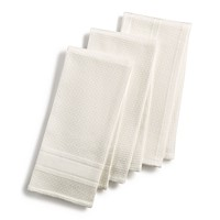Deals on Martha Stewart Collection 3-Pc Waffle Weave Kitchen Towels