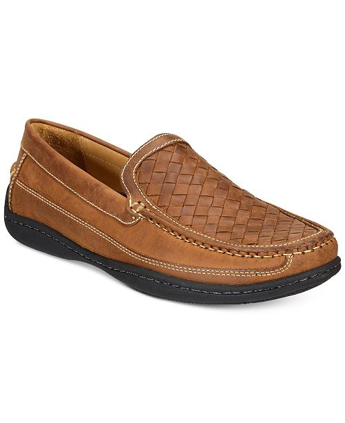 Johnston & Murphy Men's Fowler Woven Venetian Driver Men's Shoes TtjlNOEMYe