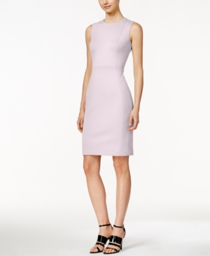 2fdd3a5a2526e CALVIN KLEIN Scuba Crepe Sheath Dress