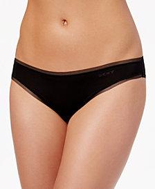 DKNY Litewear Low-Rise Mesh-Trim Bikini DK5002