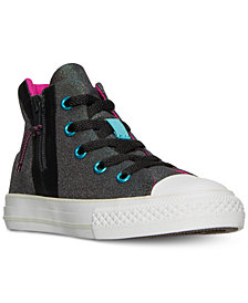 Converse Little Girls' Chuck Taylor All Star Sport Zip High Top Sneakers from Finish Line