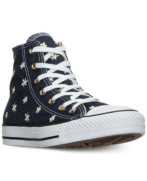 ad22d14f5d60 ... Converse Women s Chuck Taylor Hi Daisy Print Casual Sneakers from  Finish ...