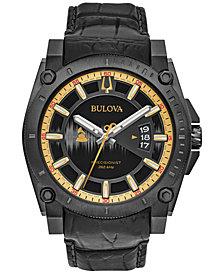 Bulova Men's Special Edition 2017 GRAMMY® Black Leather Strap Watch 46mm 98B293