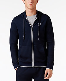 Armani Exchange Men's Logo Full-Zip Hoodie