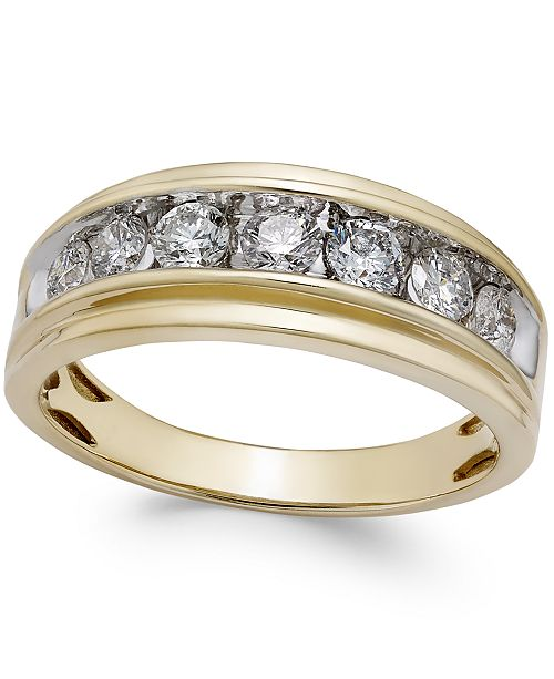 pave white wedding gold rounded band mens bands set diamond diamonds wide