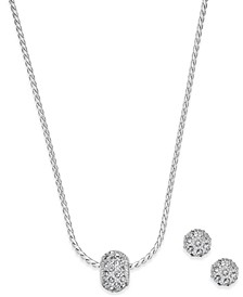 Pavé Ball Pendant Necklace and Stud Earrings Set, Created for Macy's