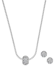 Charter Club Pavé Ball Pendant Necklace and Stud Earrings Set, Created for Macy's