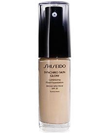 Shiseido Synchro Skin Glow Luminizing Fluid Foundation, Broad Spectrum SPF 20, 1.1 oz.