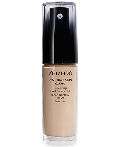 Shiseido Synchro Skin Glow Luminizing Fluid Foundation, Broad Spectrum SPF 20