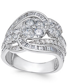 Diamond Swirl Ring (2 ct. t.w.) in 14k White Gold