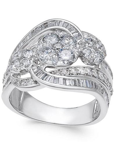 Diamond Swirl Ring (2 ct. t.w.) in 14k White Gold