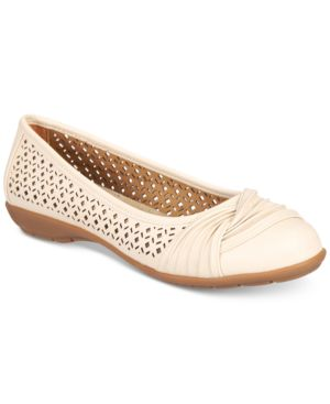White Mountain Sarlow Perforated Flats, Created for Macy