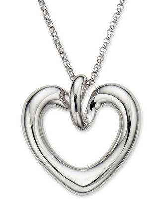 Nambé Love Pendant Heart Necklace in Sterling Silver