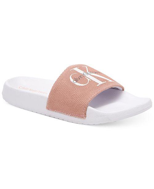 09c411ff4 Calvin Klein Jeans Women s Chantal Slip-On Sandals   Reviews ...