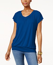 Petite Banded-Hem Top, Created for Macy's