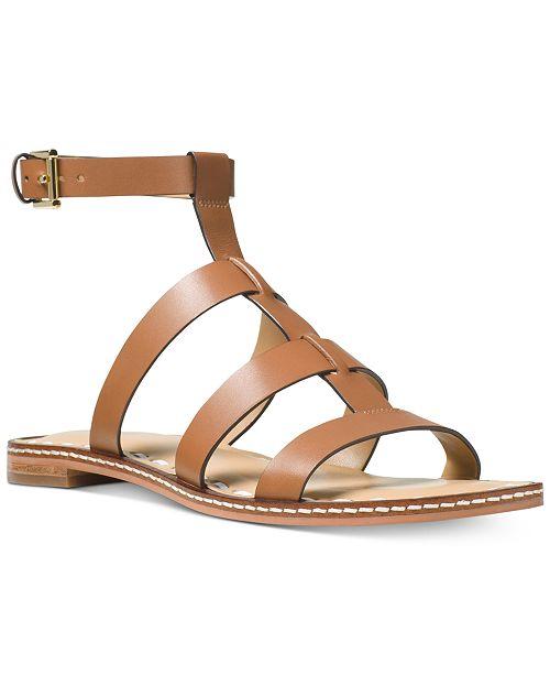 96c7047b61a Michael Kors Fallon Gladiator Flat Sandals   Reviews - Sandals   Flip ...